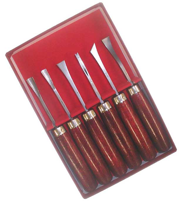Wood Carving Set 6 Str Hdl - Click Image to Close